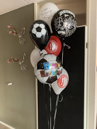 Ballonboeket Verjaardag Feyenoord Rotterdam Voetbal