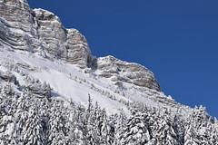snowy rocky face