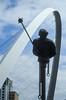 Tyne Bridges - Millennium Bridge & River God