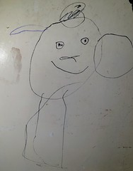 Photo of My Daughter decided to draw on the door...