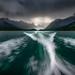 Wild Boat Ride Across Maligne Lake