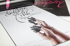 Calligraphy: voice of the soul | AD & Graphic design: Vertigo design | Calligraphy: Chiara Riva | Ph: Silvia Foco