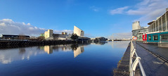Photo of 22nd January 2021. The Imperial War Museum North by the Manchester Ship Canal at Trafford Park, Manchester.
