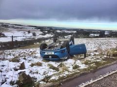 Photo of Upturned vehicle