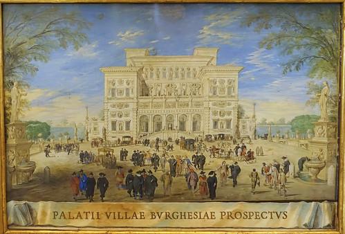Johann Wilhelm Baur, Ansicht der Villa Borghese - Prospect of Villa Borghese1636