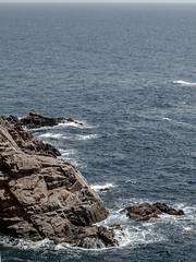 El suau bes del mar a la roca