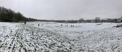 Photo of Snowy Sunday on the cricket pitch