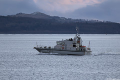 Photo of Royal Navy Archer-class patrol boat, HMS Charger, P292; the Holy Loch, Argyll & Bute, Scotland