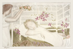 Allegory (Allégorie) (ca.1897–1899) print in high resolution by Maurice Denis. Original from The Public Institution Paris Musées. Digitally enhanced by rawpixel.