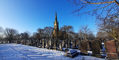 Photo of 25th January 2021. Chapel of Rest in Stretford Cemetery, Manchester.