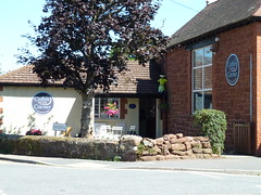 Photo of Coffee on the Corner - check out the fluffy animal just right of centre and the road name Churchstile
