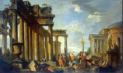 Giovanni Paolo Panini, Predigt der Sibylle in römischen Ruinen - Sermon of Sibyl in Roman Ruins