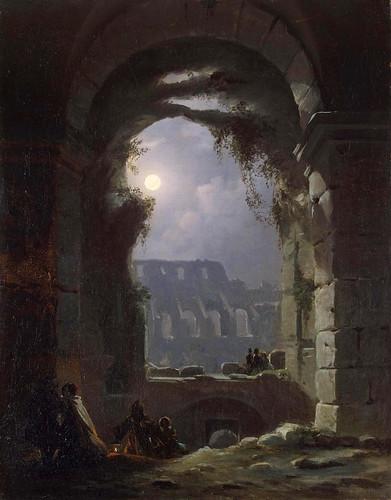 Franz Ludwig Catel, Das Kolosseum in einer Mondnacht - The Colosseum in a moonlit night