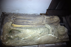 Photo of nyks - altar tomb of sir robert ryther in all saints church ryther 21-3-1994 JL