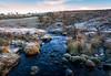 Stone and stream,  Howwood, Johnstone, Renfrewshire, Scotland, UK