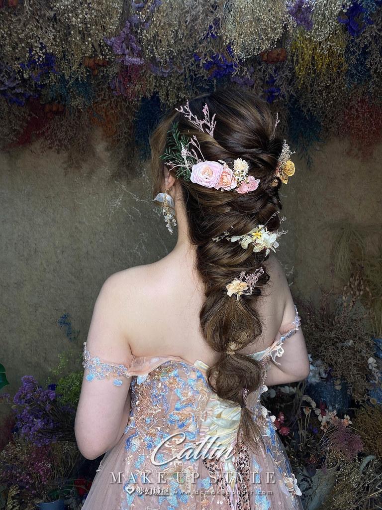 【新秘Catlin】新娘造型創作 /  乾燥花夢幻編髮