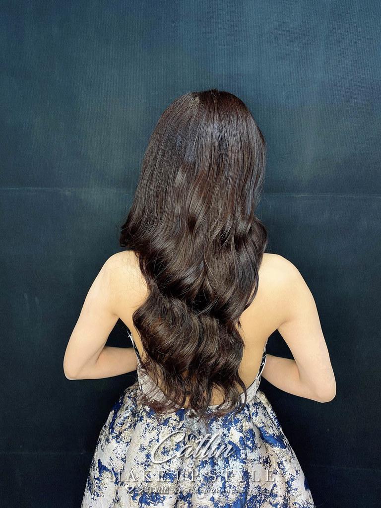 【新秘Catlin】新娘造型創作 /  個性時尚放髮