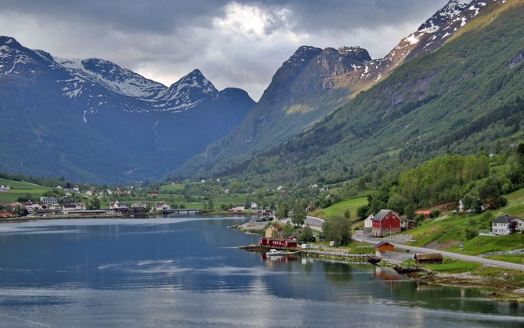 Approaching Olden, Norway
