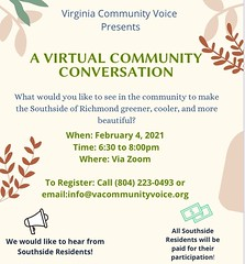 #repost @inthe8th ・・・ We are having another virtual conversation around Greening in Southside! 🌳 I heard from many community members on the campaign trail about what they wanted to see around them. ☀️ This is the place to gather those