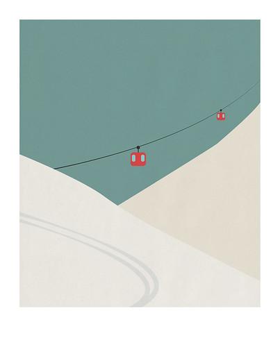 09-Carte postale // 10x12,5cm // Ski