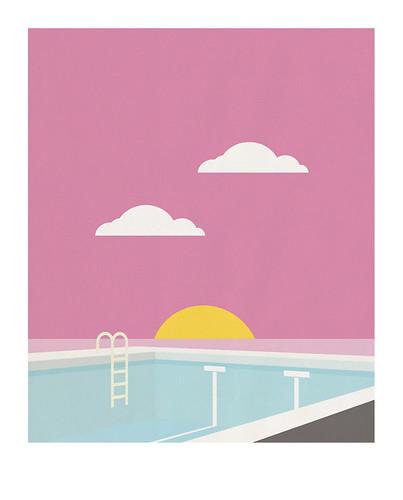 08-Carte postale // 10x12,5cm // Piscine
