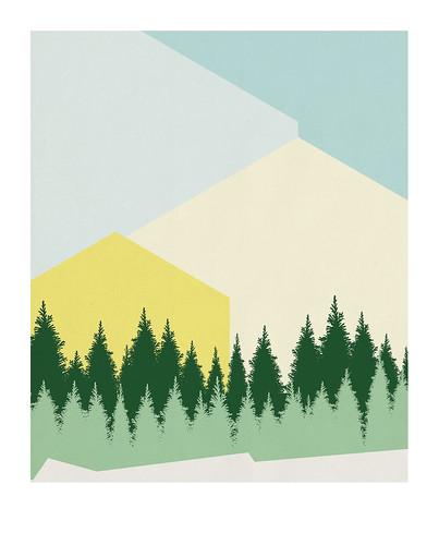 05-Carte postale // 10x12,5cm // Montagne