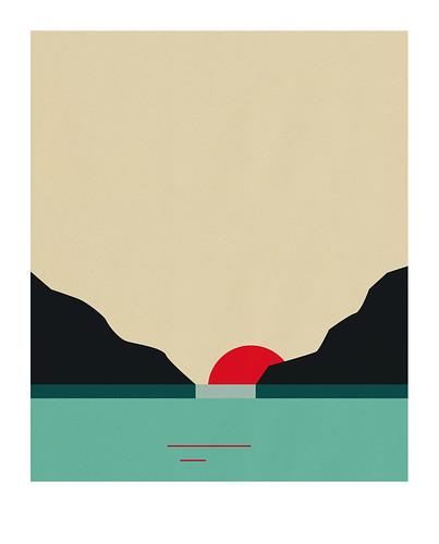 04-Carte postale // 10x12,5cm // Fjord