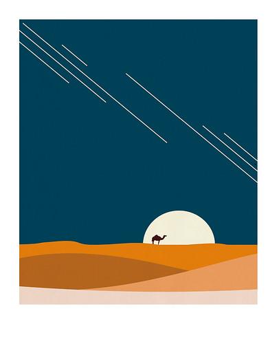 03-Carte postale // 10x12,5cm // Désert