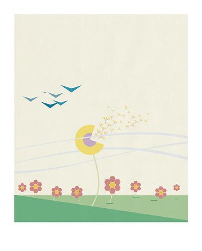 02-Carte postale // 10x12,5cm // Prairie
