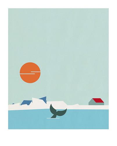 01-Carte postale // 10x12,5cm // Banquise
