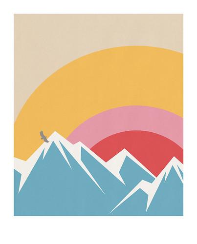 07-Carte postale // 10x12,5cm // Montagne
