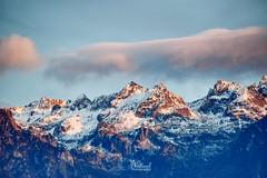 Red tipped snowy peaks