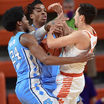 MBB: Clemson 63, North Carolina 50