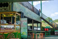 Ginseng Tee Verkaufsstand unter einer Sonnenterasse im Me Linh Cafe in Da Lat, Vietnam