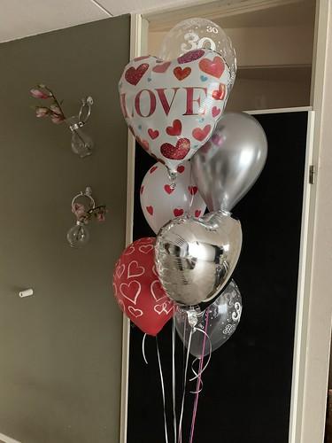 Ballonboeket Valentijnsdag Liefde