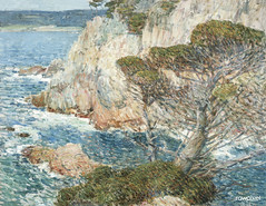 Point Lobos, Carmel (1914) by Frederick Childe Hassam. Original from The Los Angeles County Museum of Art. Digitally enhanced by rawpixel.