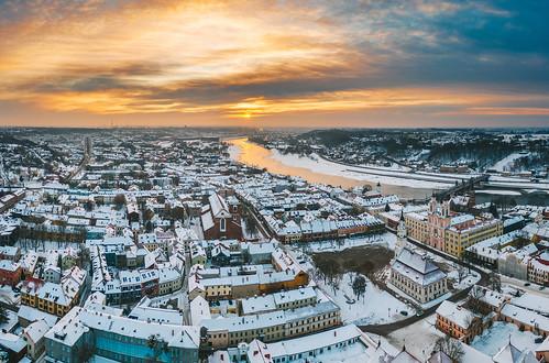 Winter morning | Kaunas aerial