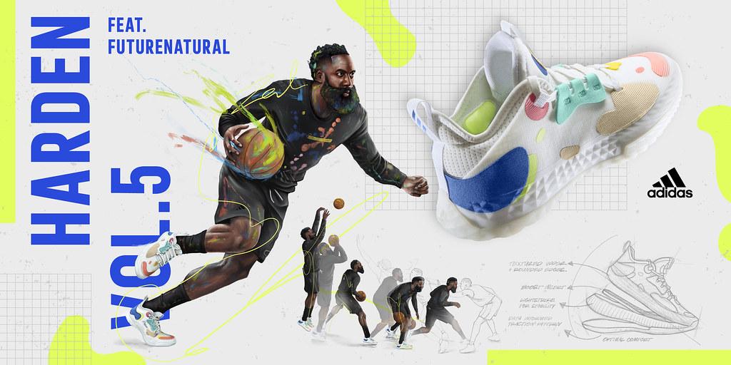 1. adidas以James Harden場上不斷提升創新的進攻精神為本,重磅推出全新第五代簽名籃球鞋Harden Vol.5