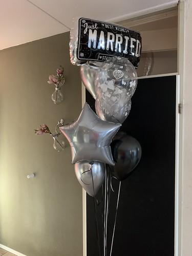 Ballonboeket Huwelijk Just Married