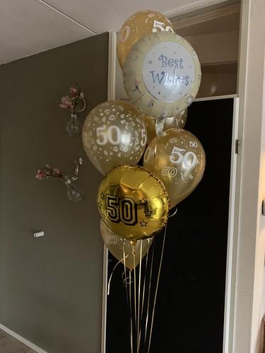 Ballonboeket Jubileum 50 Jaar Getrouwd