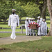 Sailors assigned to Navy Region Hawaii and the Defense POW/MIA Accounting Agency (DPAA) conduct a funeral for U.S. Navy Chief Machinist's Mate Lada Smisek at the National Memorial Cemetery of the Pacific, Honolulu.