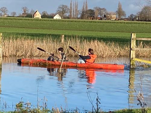 kayaken op de Poekebeek