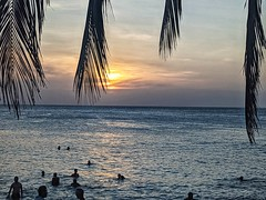 Sunset from Traveller's Cafe Stone Town