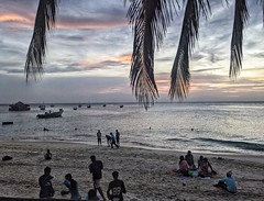 Evening on the beach: Stone Town