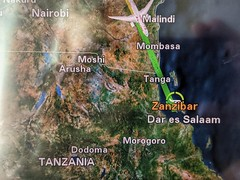 In flight map.