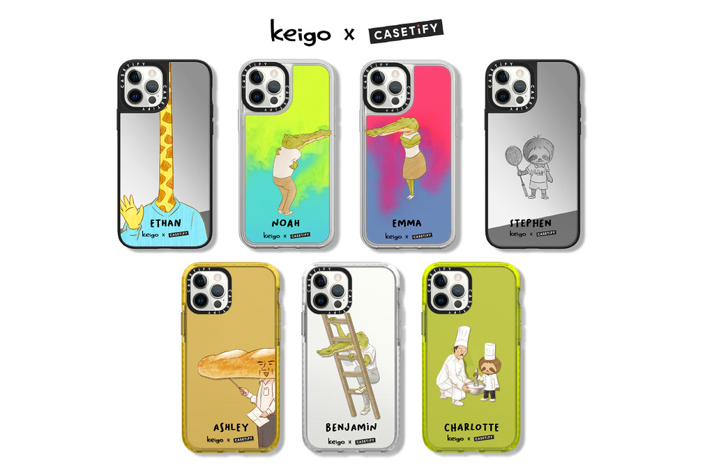 5. 受到眾人喜愛的人氣Instagram插畫將於Keigo x Casetify聯名系列中上市,包含透過合併手機殼才能接吻的鱷魚。