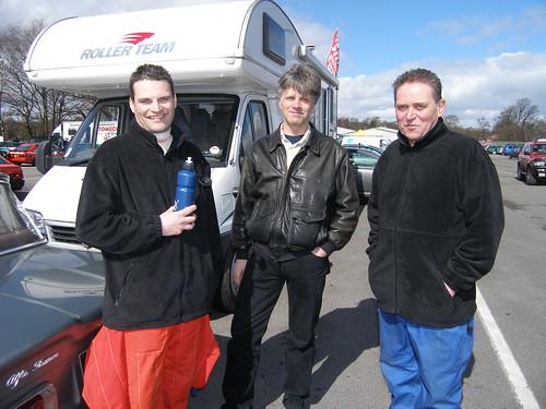 Steve Foley, Sam Laird and Ray Foley at Donington