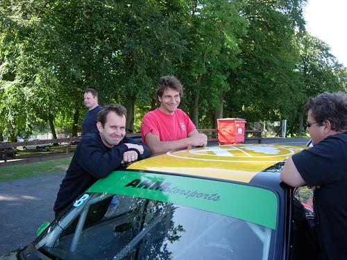 Adie & Tim looking happy at Cadwell