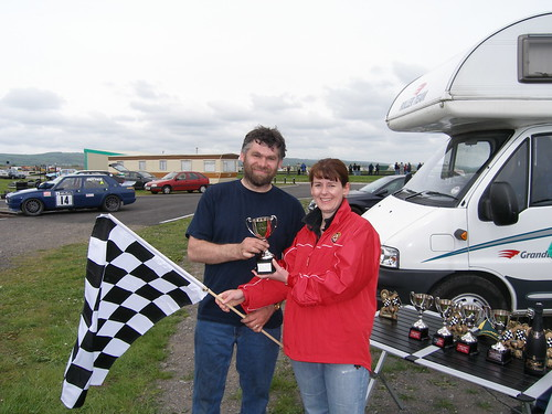 Andy Page Class A winner Pembrey 2006 with Andrea Heels
