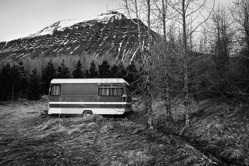 "Abandoned caravan in Skíðadalur • <a style=""font-size:0.8em;"" href=""http://www.flickr.com/photos/22350928@N02/50914240566/"" target=""_blank"">View on Flickr</a>"